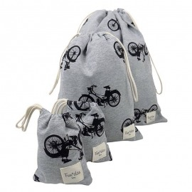 PACK BOLSAS GUARDERÍA PLASTIFICADAS BLACK BIKES GRIS