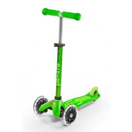 PATINETE MINI MICRO DELUXE VERDE RUEDA LED