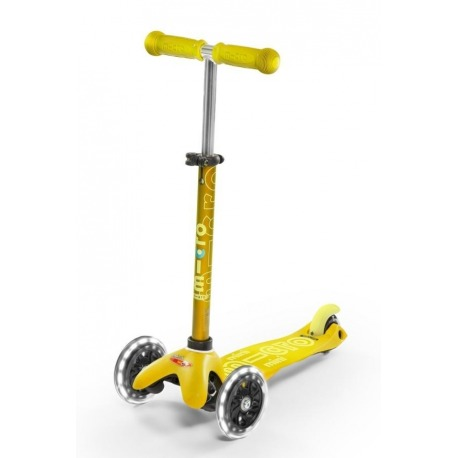 PATINETE MINI MICRO DELUXE AMARILLO RUEDA LED