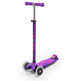 PATINETE MAXI DELUXE LILA RUEDA LED