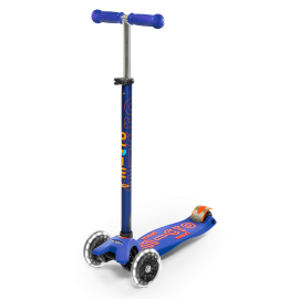 PATINETE MAXI DELUXE AZUL RUEDA LED