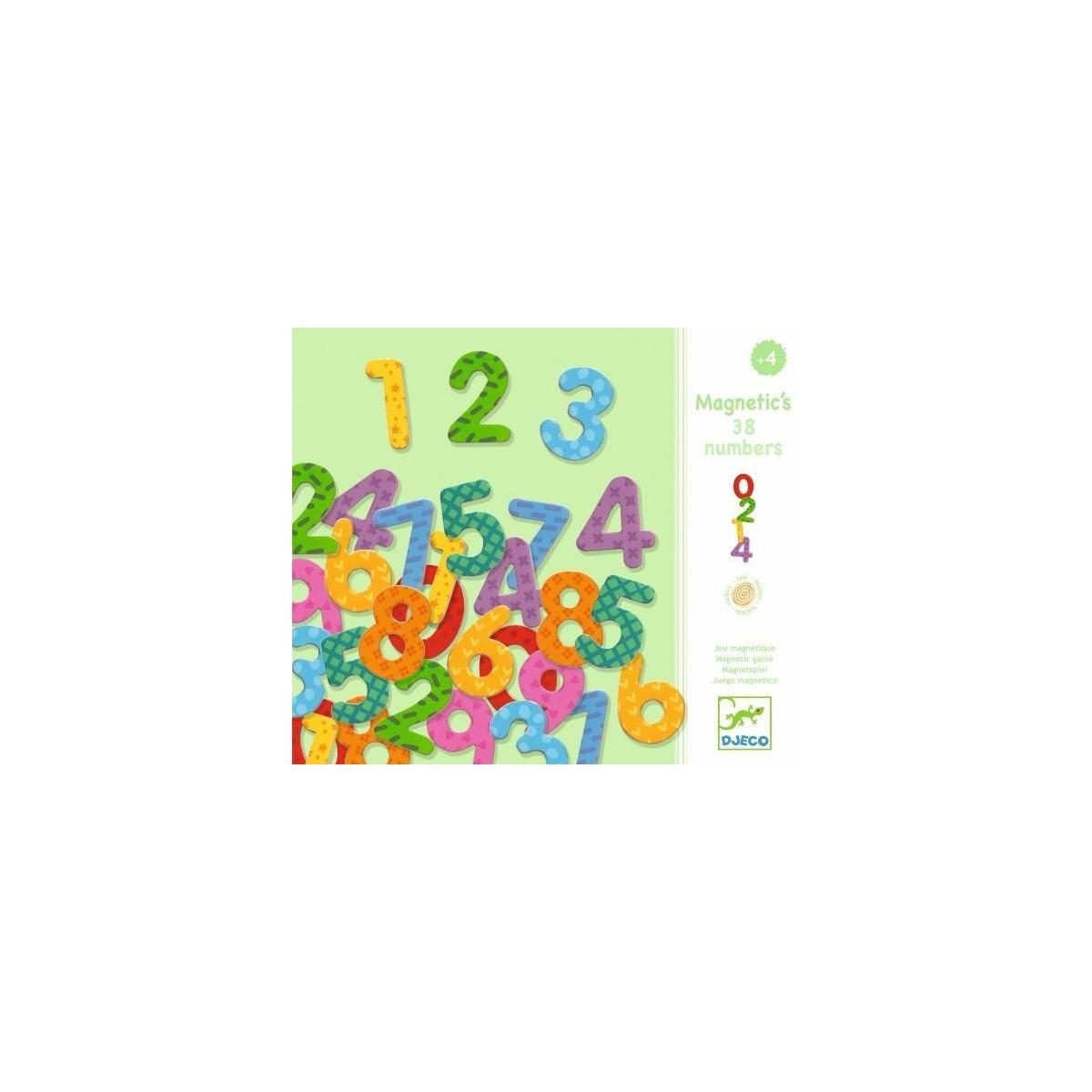 8273ef732 Juego 38 números magnéticos de Djeco. Juegos educativos de madera