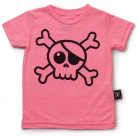 CAMISETA BIG SKULL FUCSIA