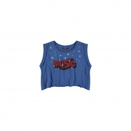 CAMISETA MUSIC AZUL ROYAL