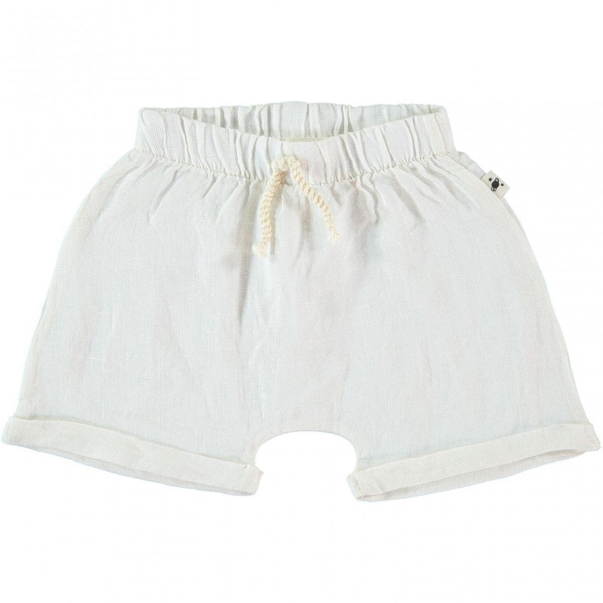 6cf15a6864 Short lino Sitges blanco roto de My Little Cozmo. Moda bebé.