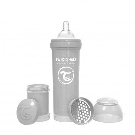 BIBERÓN TWISTSHAKE 330 ML GRIS