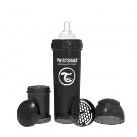 BIBERÓN TWISTSHAKE 330 ML NEGRO