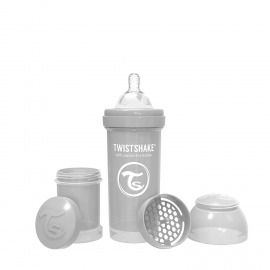 BIBERÓN TWISTSHAKE 260 ML GRIS